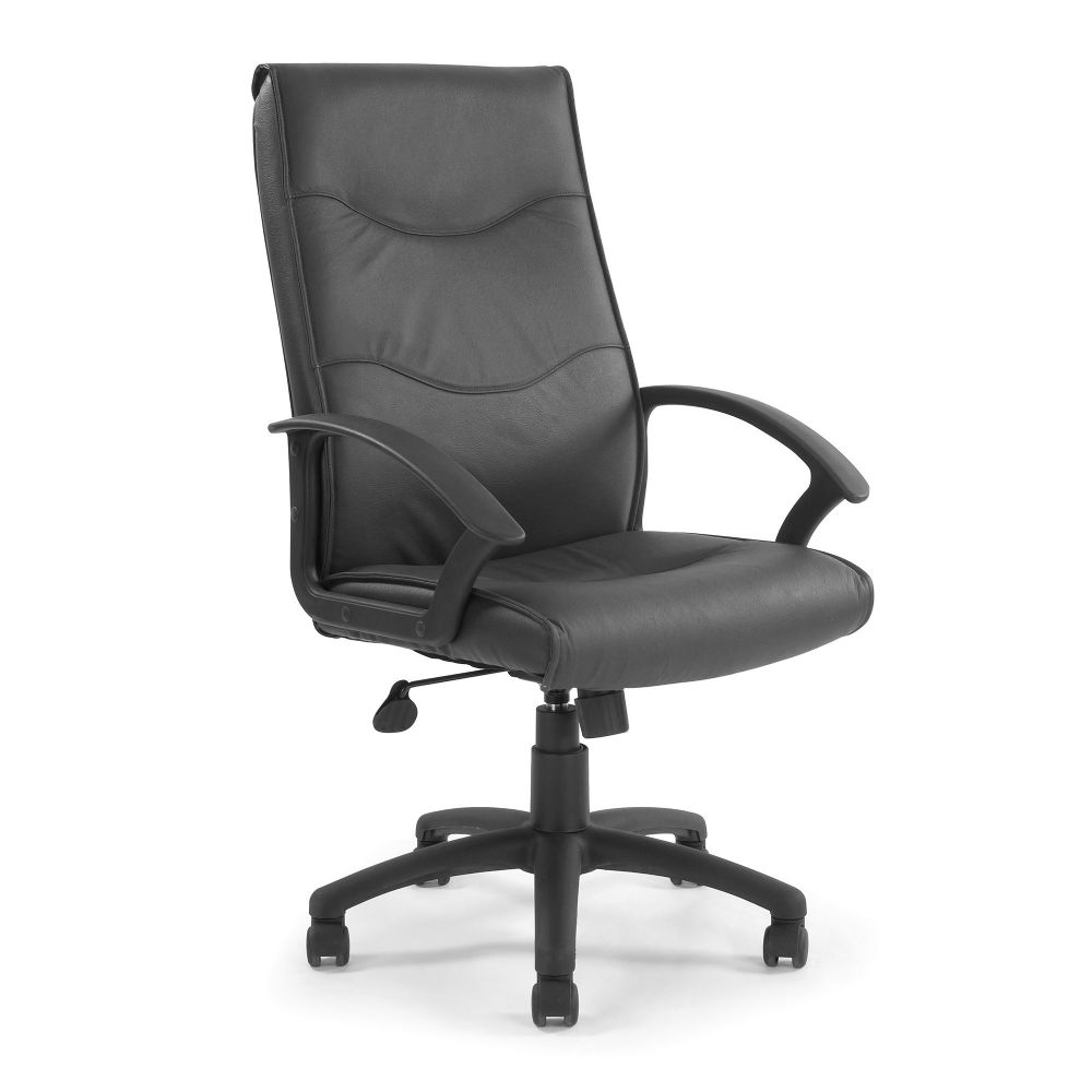 Swithland High Back, Traditional Leather Faced, Executive Chair. Cream, Black or Brown Leather